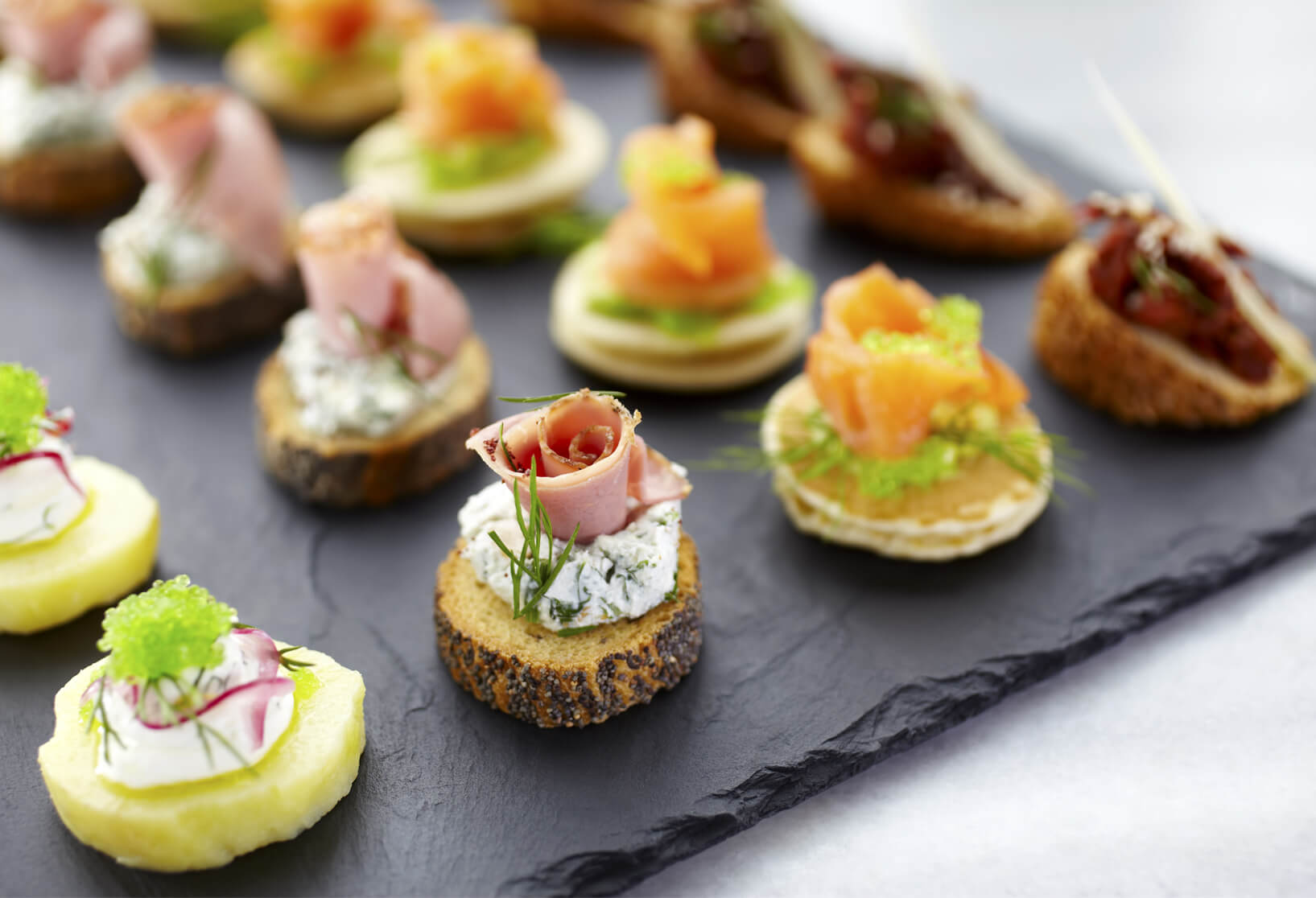 mixed canapé tray bespoke